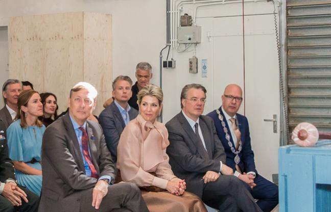 Koningin Máxima tijdens de opening van Social Label in het Werkwarenhuis. Foto > ByMarjo