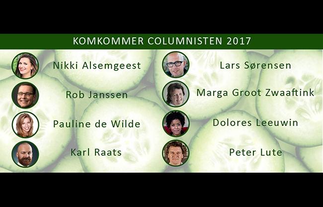 #Komkommercolumn 2017: Maak kennis met de columnisten van deze zomer