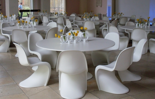 JMT, Panton Chair White, Original Design, Rental furniture