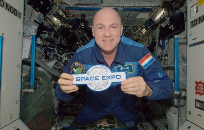 Space Expo exposeert een prachtige collectie van spullen die mee zijn geweest in de ruimtereizen van André Kuipers