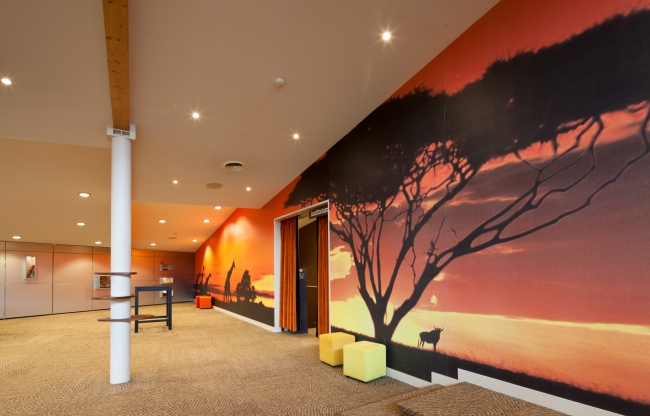 Afrikaanse sferen in de Foyer