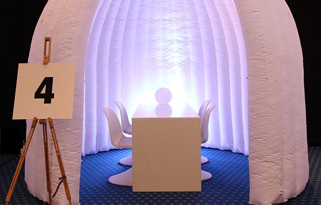 Schep ruimte met inflatables van QuickSpace