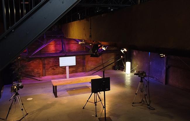 Livestream Station in de Stadstuin – Werkspoorfabriek.  Een unieke studio van 300 m2