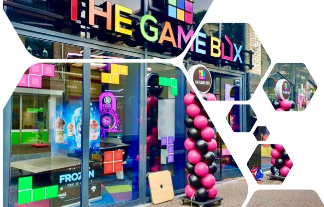 The Game Box met feestelijke entree met duurzame pilaren