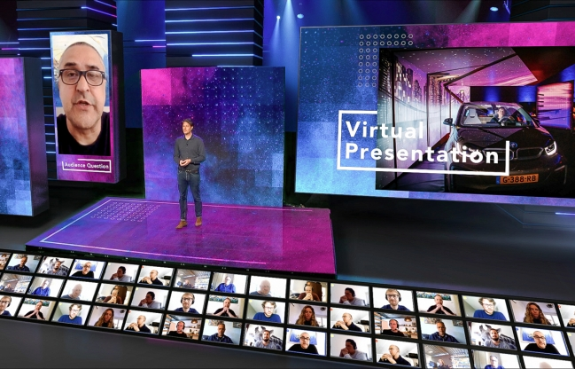 Virtual eventproduction by Faber Audiovisuals/Univate