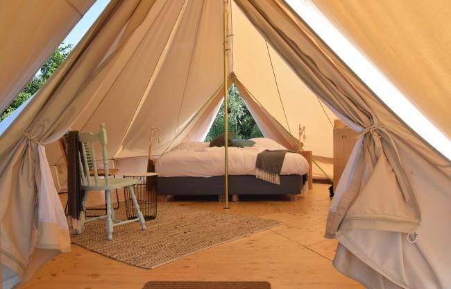 Overnachten in een luxe tent