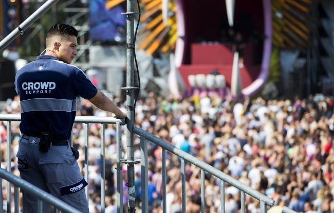 Beveiliging op grootschalige festivals
