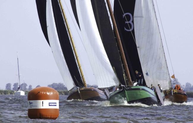 Skutsje silen in Friesland