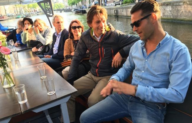 Varen in Amsterdam bedrijfsuitje