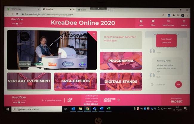 KreaDoe Jaarbeurs; óók online een beleving