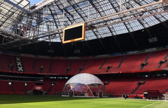 Dome gebouwd door Domes Europe in de Johan Cruyff Arena