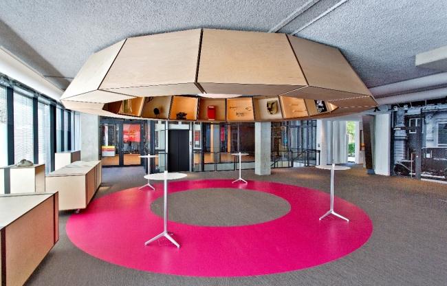 Het Hart verbindt de Newsroom, Eventzaal en Webinar Room met elkaar.