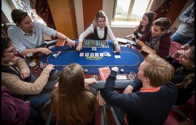 pokertafel huren voor een pokerworkshop