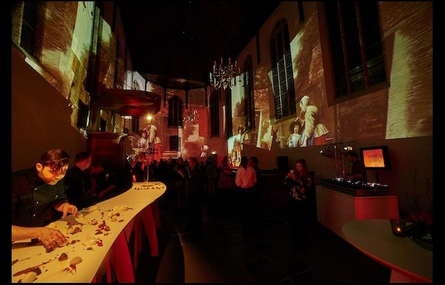 Projectie Museum Prinsenhof Delft