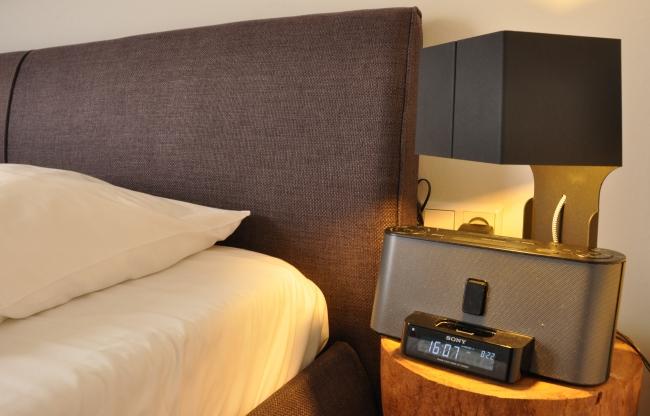 Detail hotelkamer