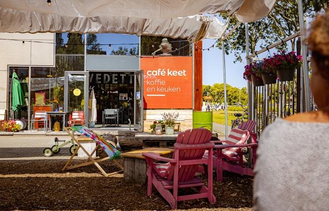 terras bij cafe keet utrecht