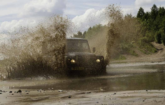 Offroad events met Landrovers