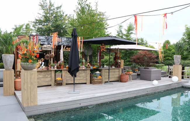 vanderLOO catering decor events - Privefeestje in tuin