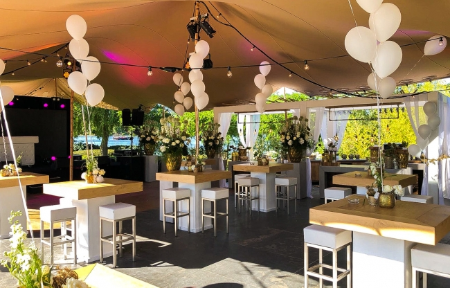 vanderLOO catering decor events - White with touch of gold