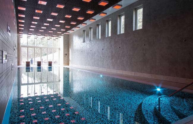 Zwembad met sauna en jacuzzi