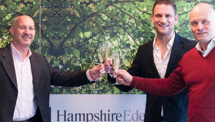 Mitch Huysman, Director of Sales Hampshire Hotels, Gijs Verbeek, Executive Director MPI the Netherlands en Leon Dijkstra CEO van Hampshire Hotels.