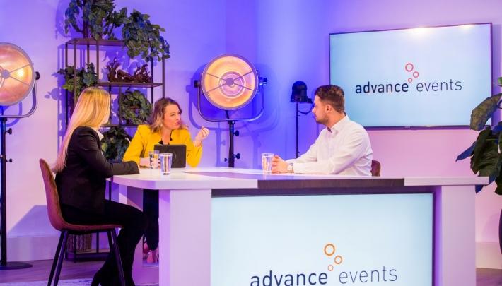 Livestream studio 2.0 bij Advance Events