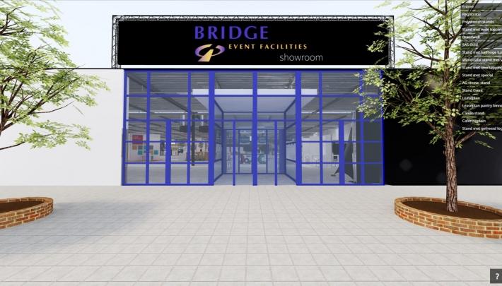Kijk rond in de virtuele showroom van Bridge Event Facilities
