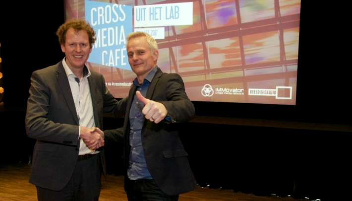 Freek van 't Ooster (iMMovator) en John Leek (Beeld en Geluid)