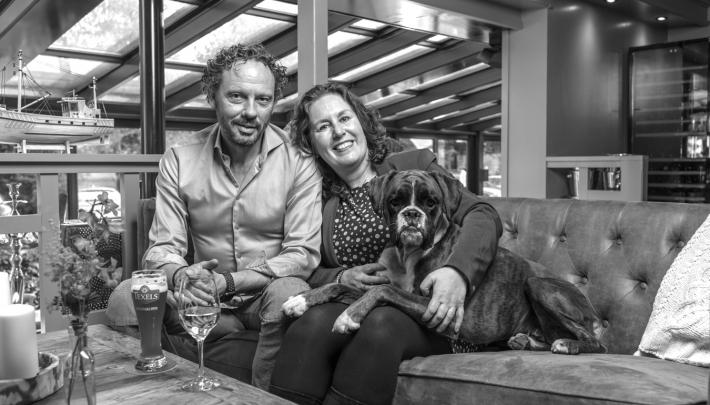 Jeanine Geurts: 'Amstel Boathouse zijn wij. En wij is Pim, ik en Moos'