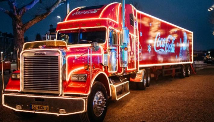 Coca-Cola kersttruck bezoekt Leisure Dome Limburg