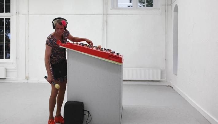 Een van de werken op CityLiv: SPACEBAK64 Fran Hoebergen