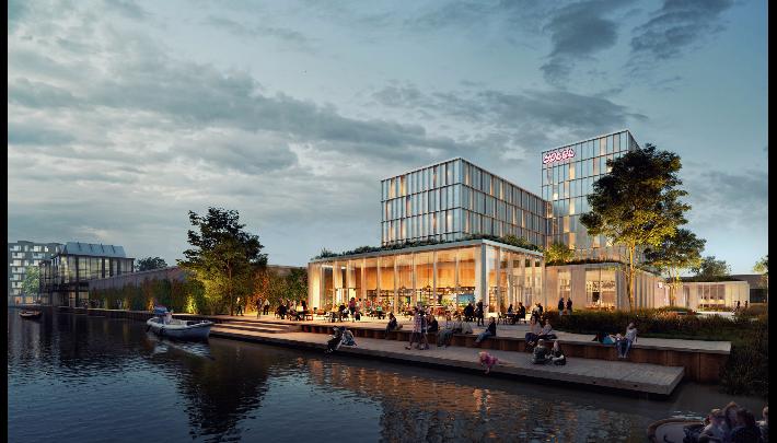 Duurzaam hotel van Being Development in Amsterdam Noord