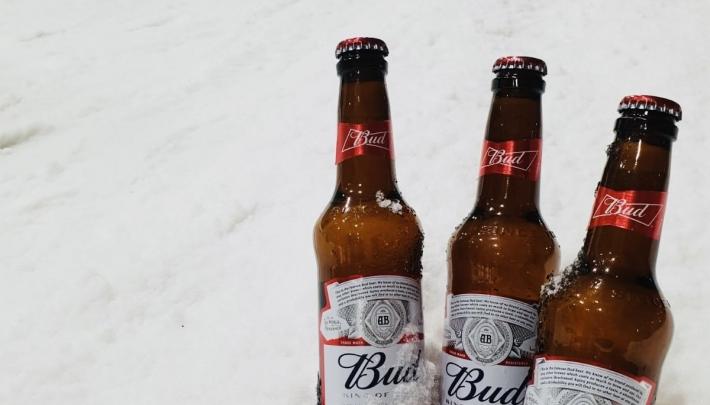 Bud vast op de tap bij SnowWorld