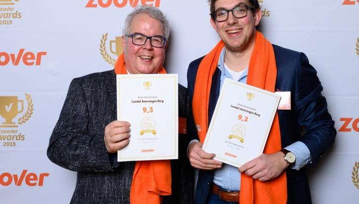 Landal GreenParks wint opnieuw Gouden Zoover Awards