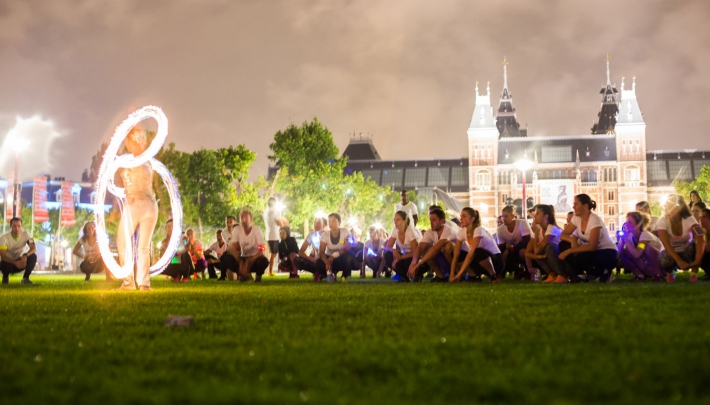 Stadswild Silent Night Run door hartje Amsterdam