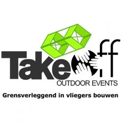 Logo van Take Off Outdoor Events, grensverleggend in vliegers bouwen.